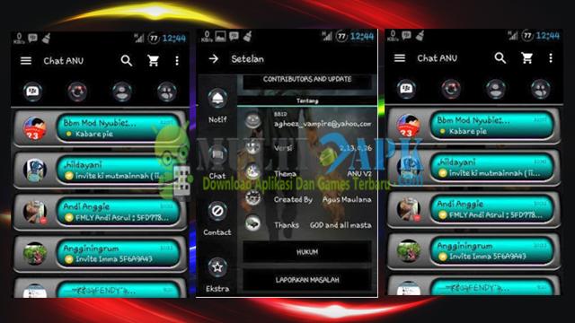 BBM Mod Theme Anu V2 Base Versi 2.13.1.14 Apk
