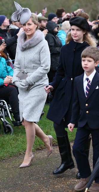 British Royal Family attend Christmas church service