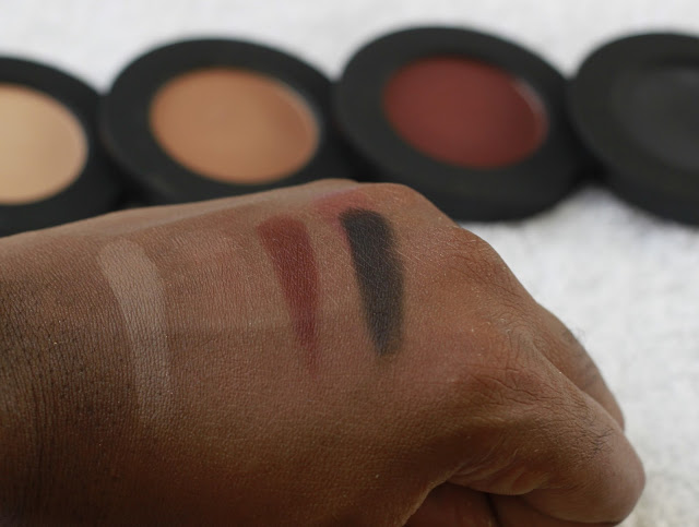 Melt Cosmetics Eye Shadow Stack in Dark Matter swatches