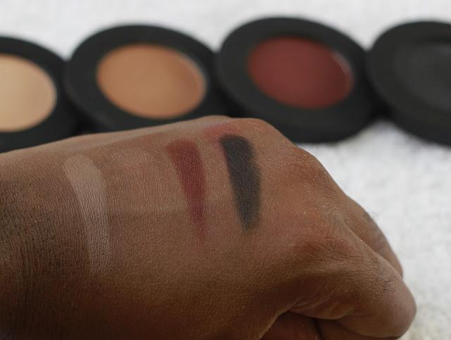 Melt Cosmetics Eye Shadow Stack in Dark Matter swatches