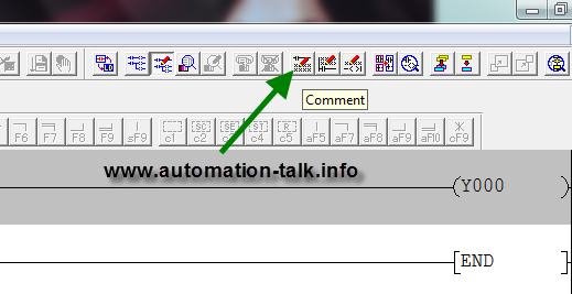 Adding Comment In GX Developer Ladder Program ~ Automation