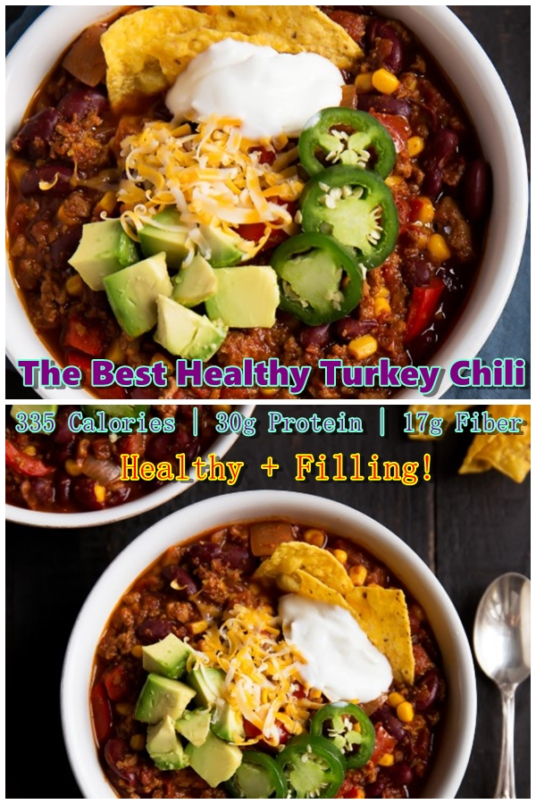 The Best Healthy Turkey Chili