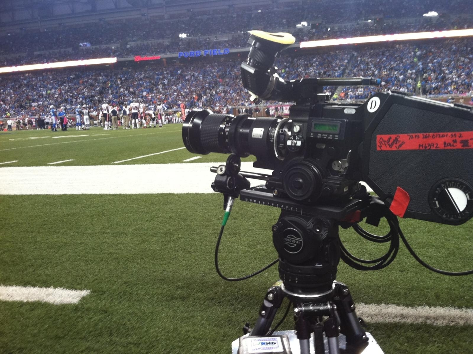 How many cameras in an NFL game? - Answers
