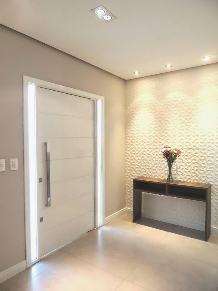 Construindo minha casa clean 50 hall de entrada de casas for Como decorar un aparador