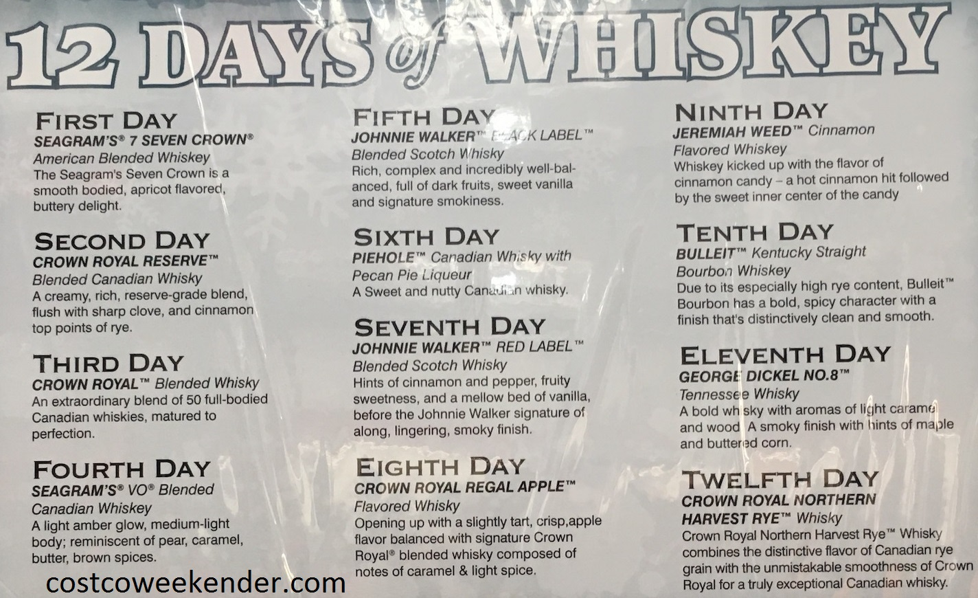 The 12 Days of Whiskey Variety Pack