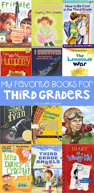 ook recommendations for 3rd grade read alouds and book clubs