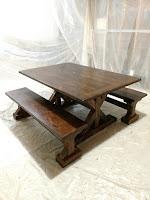 Farmhouse Table & Benches