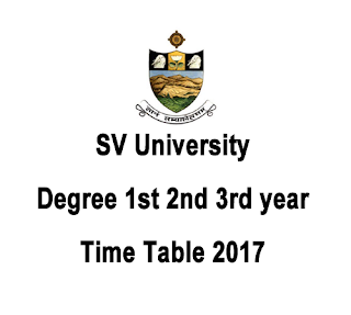 SVU Time Table 2017