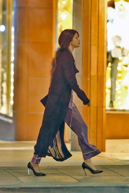 Selena Gomez wears pajamas out in Santa Monica