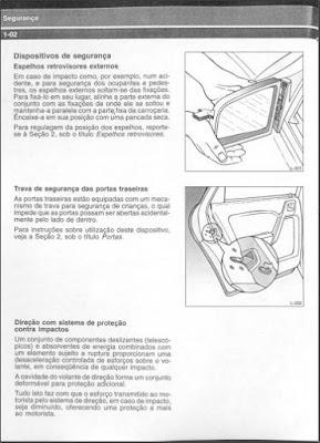 Manual do proprietário Chevrolet Vectra primeira geração