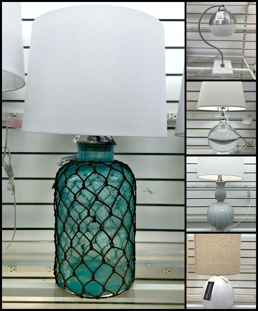lamps at HomeGoods