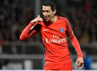 Di Maria double sends PSG level with Monaco
