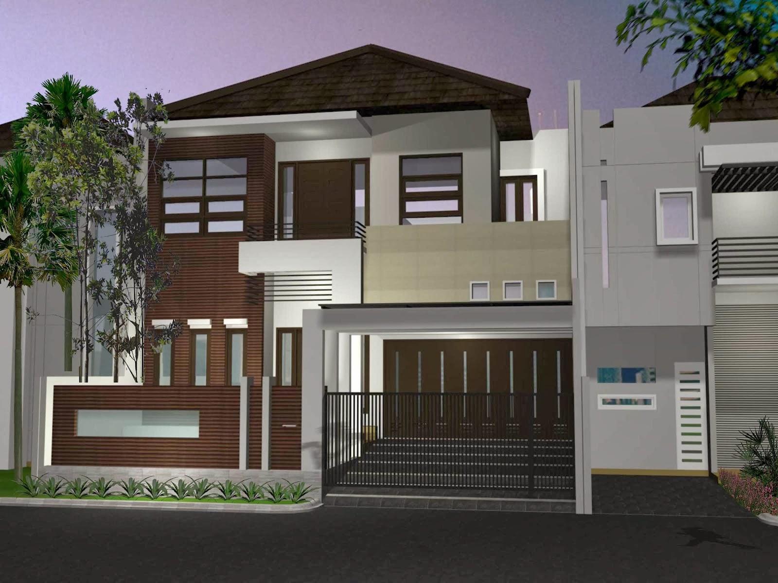 Denah Rumah Minimalis 1 Lantai: Top 15 Gambar Desain Rumah Minimalis Modern 2 Lantai 2014