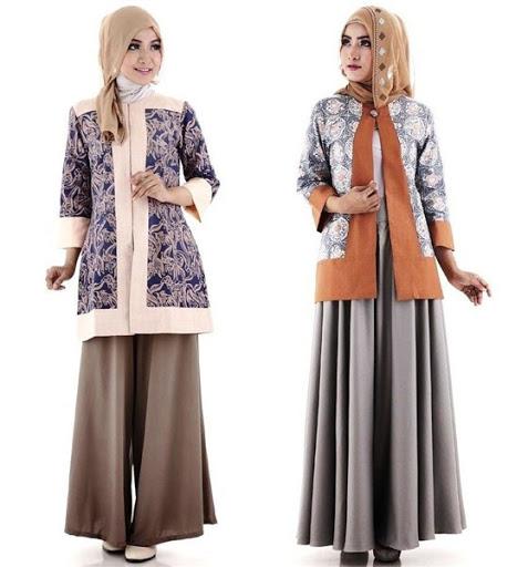 Model Baju Muslim Batik Terbaru 2017/2018