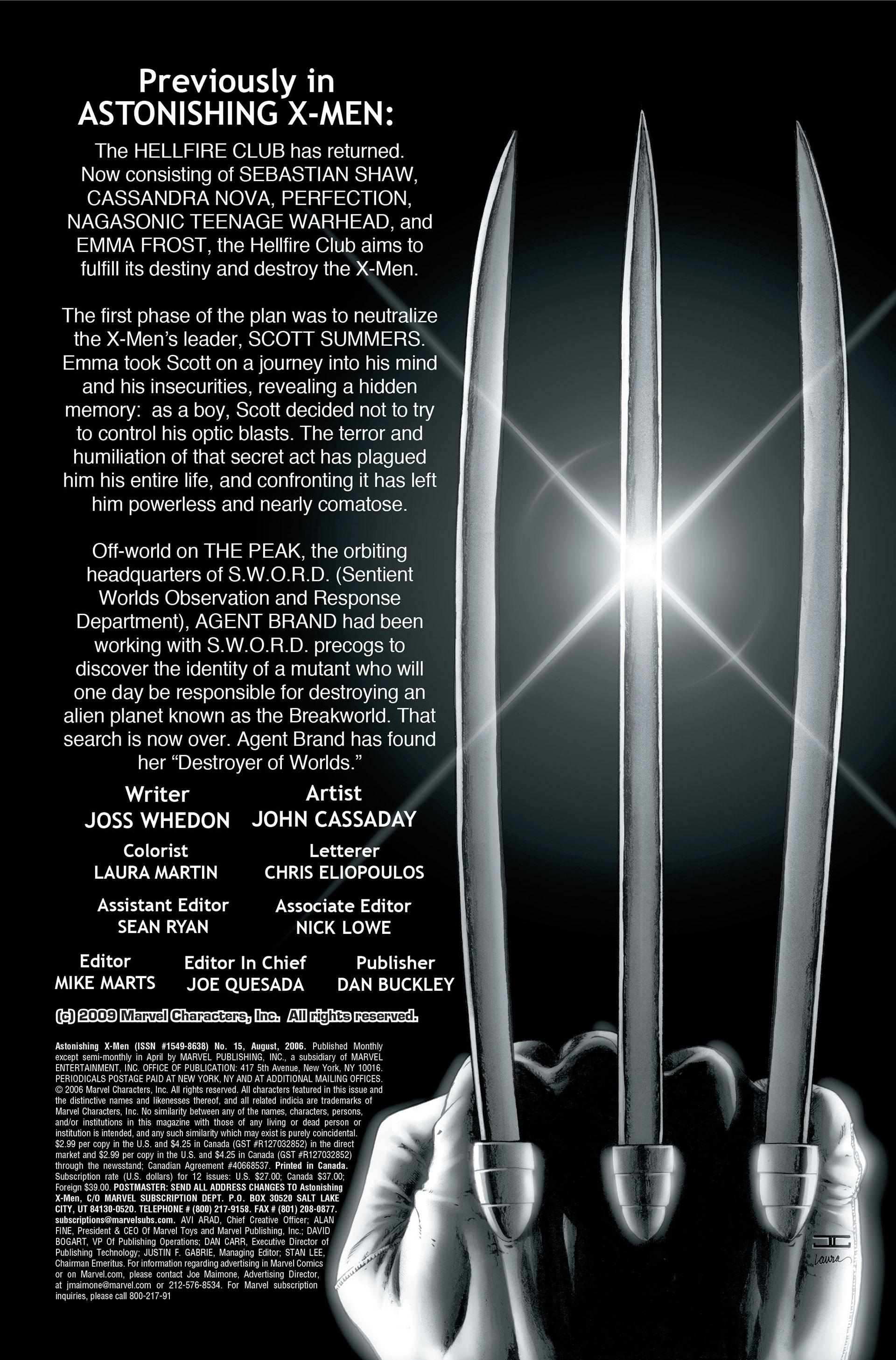Read online Astonishing X-Men (2004) comic -  Issue #15 - 2