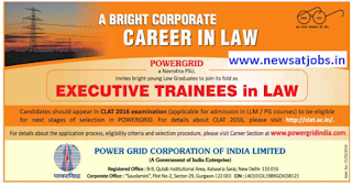 power+grid+recruitment+2016+executive+trainees+in+law