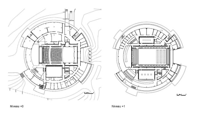 02. Carnal Hall di Le Rosey, Rolle, Swiss oleh Bernard Tschumi Architects