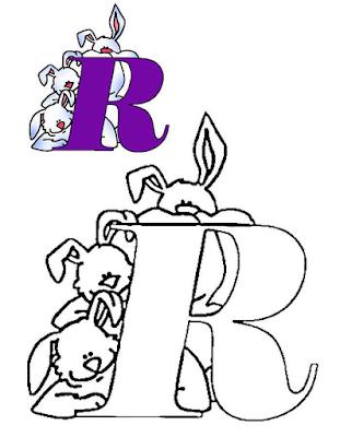 Mewarnai Alfabet Bahasa Inggris - R