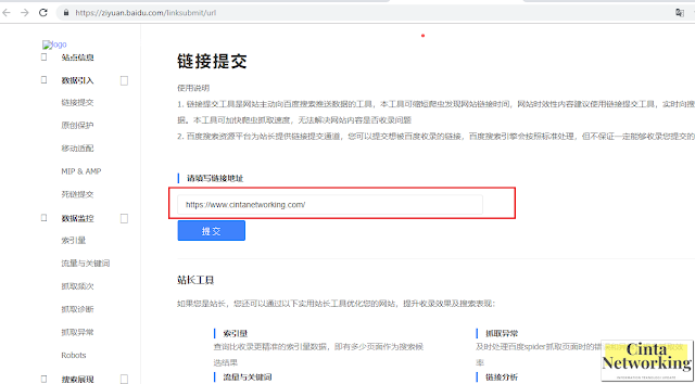Cara Mudah Submit Website Atau Blog Ke Baidu - Cinta Networking