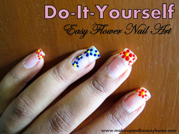 Easy Flower Nail Art 6 Steps
