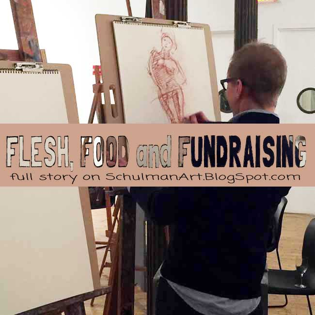 will cotton and Alyssa Monks headline drawing fundraiser at teh New York Art Academy http://schulmanart.blogspot.com/2016/02/flesh-food-and-fundraising.html