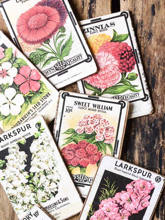 How to make vintage floral seed packets