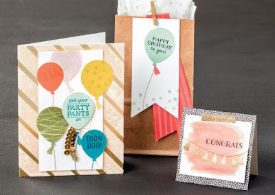 Stampin' Up! Party Pants stamp set -- free with $50 order during Sale-a-bration 2016 #stampinup #saleabration
