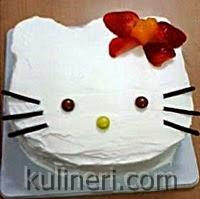 Resep Kue Ulang tahun Hello Kitty Sederhana