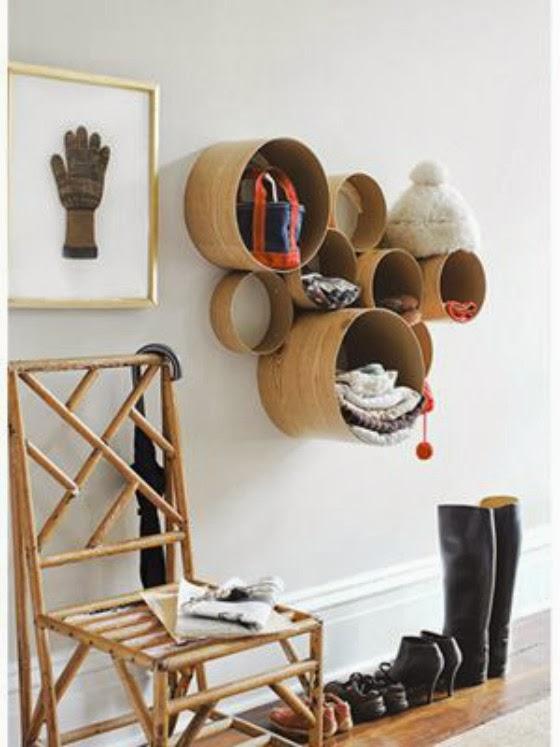 boite de rangement un rangement mural original pour l 39 entr e. Black Bedroom Furniture Sets. Home Design Ideas