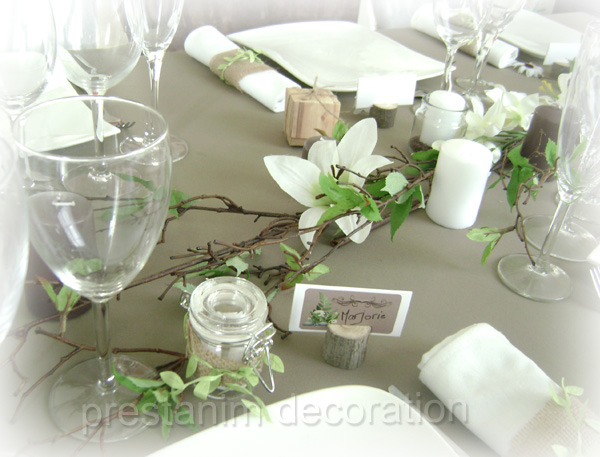 decoration table mariage nature. Black Bedroom Furniture Sets. Home Design Ideas