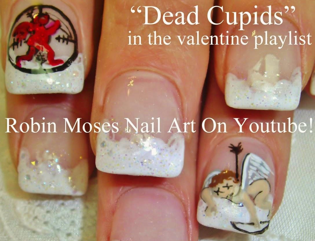 Nail Art By Robin Moses Cupid Nails Valentines Day Nails