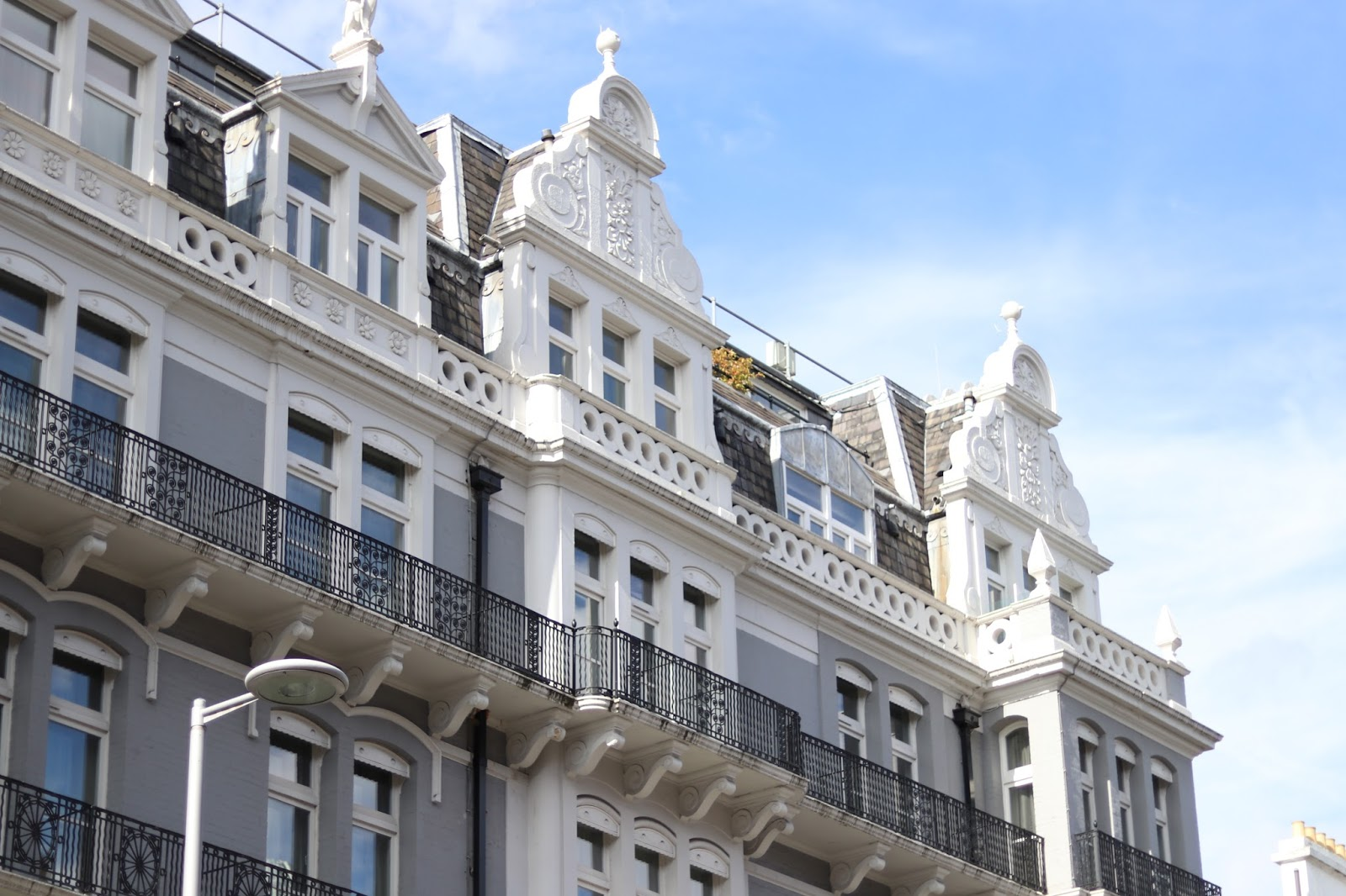 Building against blue sky, Paris, France