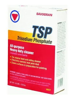 TSP - Trisodium phosphate used to clean kitchen cabinets