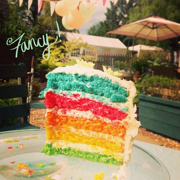Rainbow Birthday Cake A Saucy Stitch