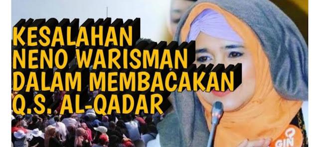 Neno Warisman Tak Faham Kaidah Baca Al Qur'an
