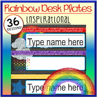 Rainbow Inspirational Desk Plates