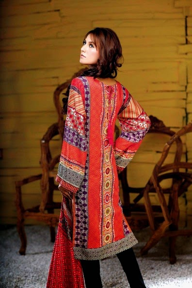 Hadiqa Kiani Fabric World Summer 2014