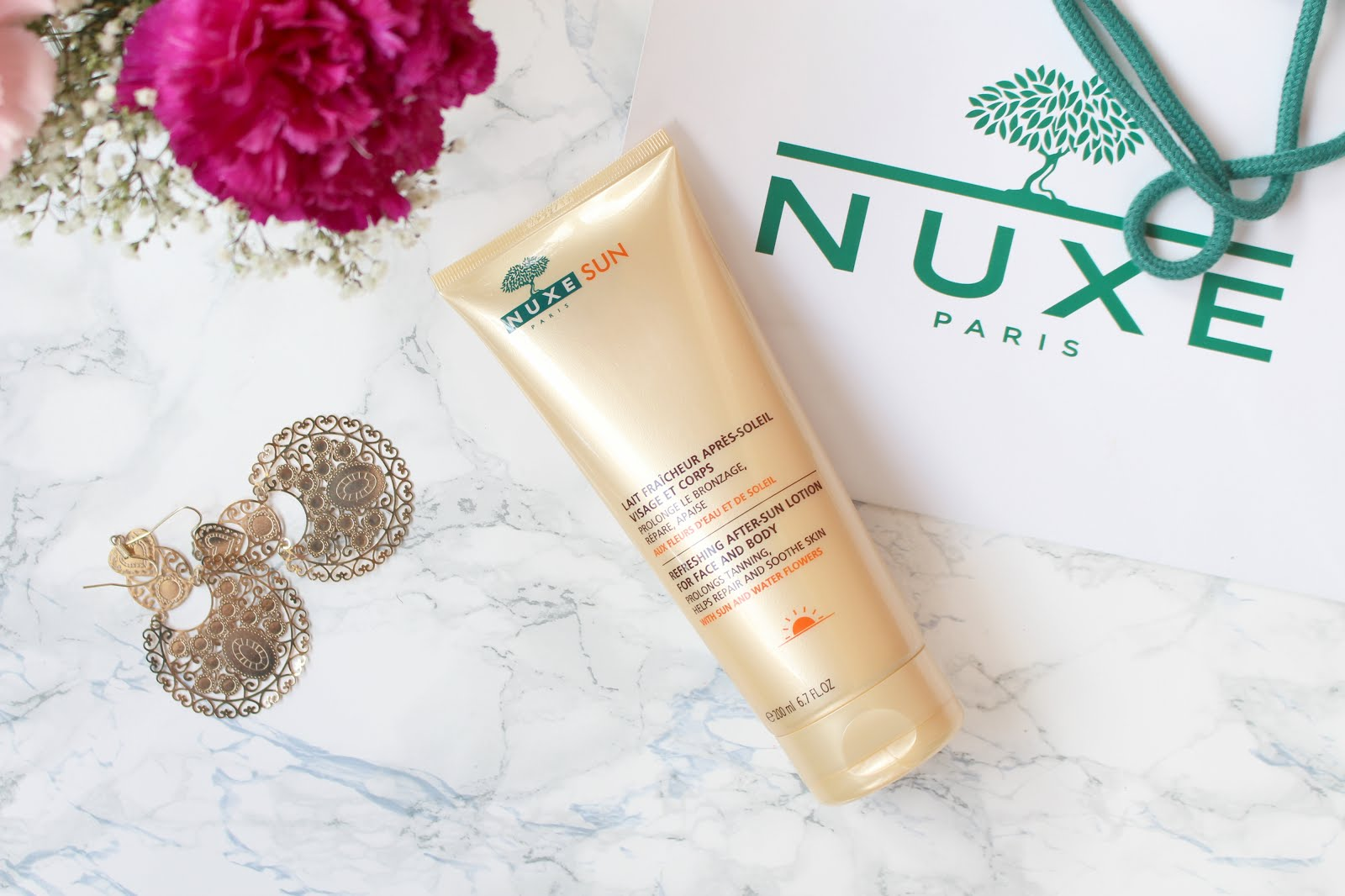 nuxe after sun lotion, nuxe after sun body lotion, nuxe body lotion