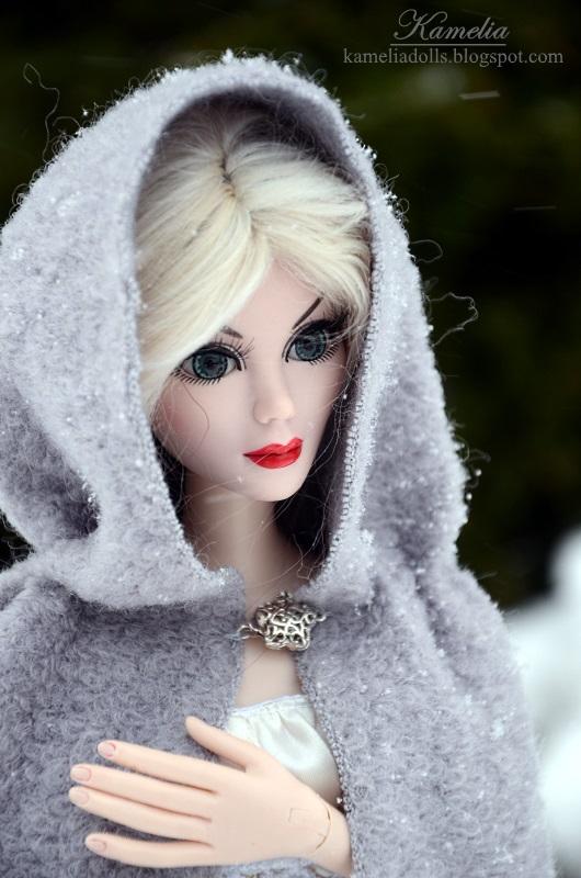 Wild Imagination dolls in winter scenery.