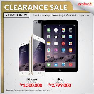 Clearance Sale iPhone Rp 1.5 juta dan iPad Rp 2.7 Jutaan