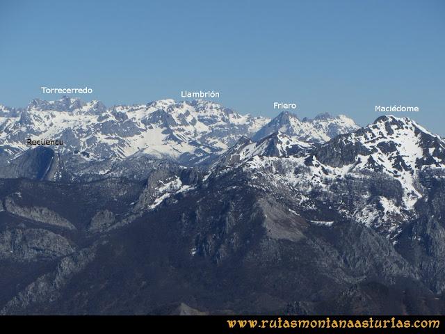 Ruta Belerda-Visu La Grande: Vista del Macizo Central de Picos de Europa