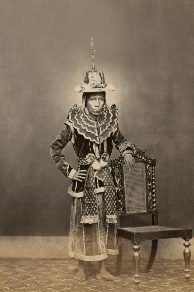 Burmese official in military court costume