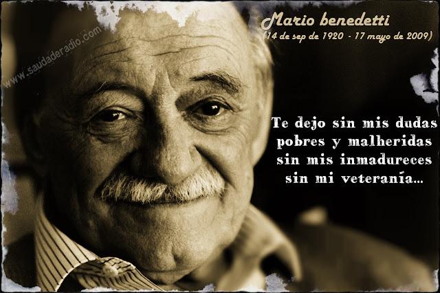 Frase del poema Chau numero tres de Mario Benedetti