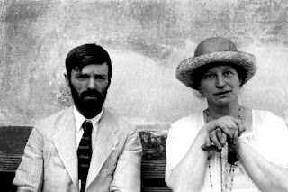 D.H. Lawrence with Frieda Weekley in Chapala, Mexico in 1923