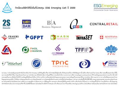 THAIPAT Releases ESG Emerging List<br /><i>Focuses on ESG Factor for Better Long-Term Financial Returns</i>