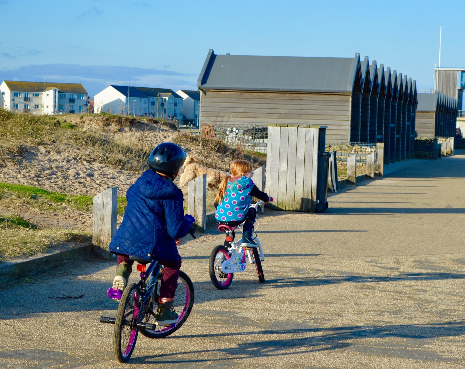 A Trip to Blyth Beach | How to Hire Beach Huts, Bus Information & Coastline Fish & Chips - bike riding at Blyth Beach