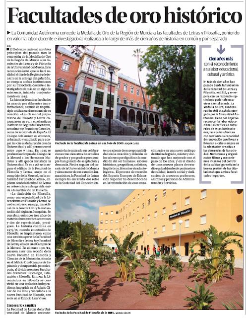 """""""Facultades de oro histórico"""""""