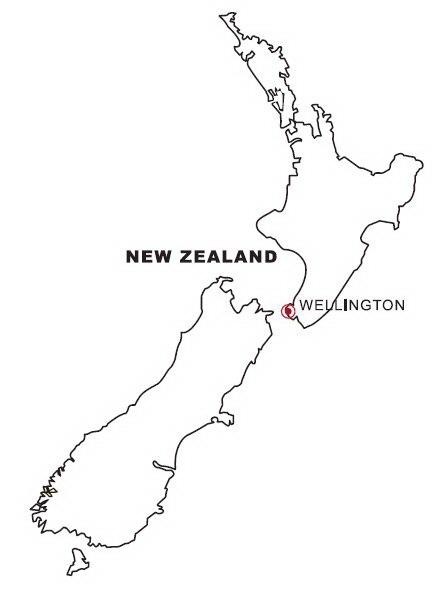 Mapa De Nueva Zelanda Para Colorear Dibujo Views