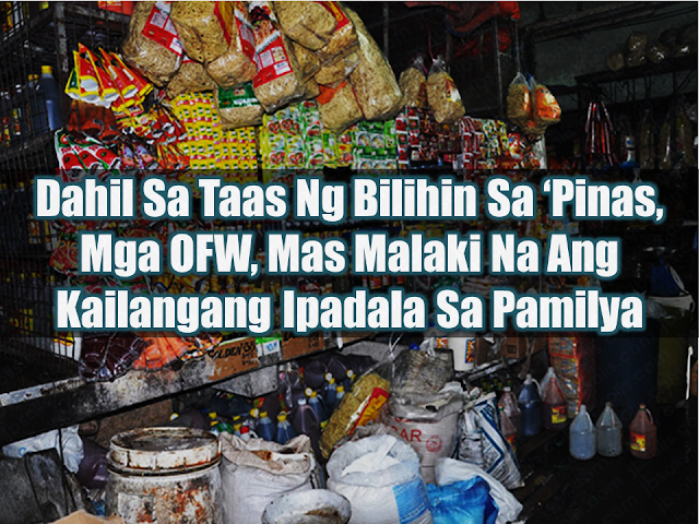 "What is the main reason why many Filipinos decided to leave their beloved family behind and work abroad? It is to earn more in order to be able to give their family the best possible future they can give. To buy the things they need, to have their own house to call their home, etc. The overseas Filipino workers  (OFW) are usually breadwinners supporting even their extended families as well. The remittances the OFWs send to their loved ones used to be enough to pay their bills, mortgages and even a little extra for them to go to the mall and enjoy. Today, the families of the OFWs are experiencing difficulty in stretching their budget for the whole month due to the high prices of everything. From basic commodities, transport fares, school supplies, etc.        Advertisement  Godofredo's wife is an OFW in Malaysia. She needed to work there because the family cannot rely on his salary as a ""barangay tanod"" alone. They use the remittances they receive from his OFW wife for the education of their children, while his salary from his local job is used to pay their electric and water bills.   Gina also experienced difficulty in making ends meet and forced to transfer her children to a public school because the remittances sent by her OFW husband is not enough anymore for their expenses.  The remittances sent by OFWs abroad is considered the redeeming grace for the Philippine economy by helping stabilize the country's dollar reserve.    Ads   The Bangko Sentral ng Pilipinas (BSP) said that the OFW remittances had been slowing down and this year was the slowest flow of cash remittances in the past seventeen years. It is due to the repatriation program of the government, according to the BSP.  From $13.8 Billion from January to June last year, OFW remittances had slightly gone up to $14.2 Billion at the same period this year.  The government said headline inflation rate went up to 4.6 % in May as compared to 2.9%  last year mainly caused by price increases in fish and seafood, fuel, lubricants, bread, and cereals. Average inflation at 4.1 %, higher than the government's 2 - 4 % target for 2018. Due to the price hike, OFWs are encouraged to send at least 20% more of their usual remittance for their family to cope up with the experienced inflation, at least until the prices stabilized.    Ads  While OFWs do their best to provide for heir family back home, the latter also need to learn to value their sacrifices and hardships by spending the remittances wisely. It is important for them to know how to spend the remittances wisely as a way of helping their beloved OFW."