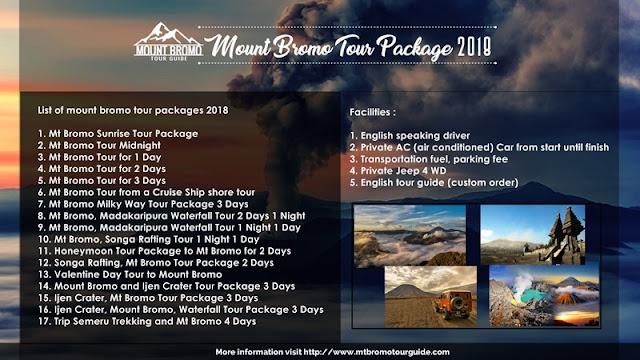 Mount Bromo Tour Package 2018